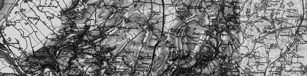 Old map of Filton in 1898