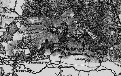 Old map of Finchampstead in 1895