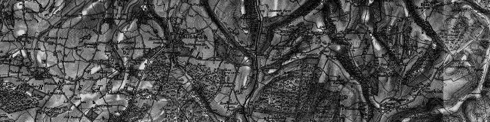 Old map of Woodhouse in 1895