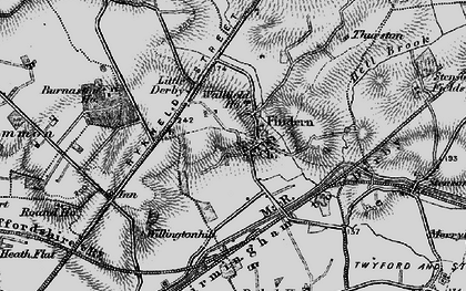 Old map of Thurston in 1895