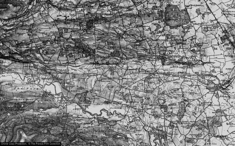 Old Map of Historic Map covering Leeming Beck in 1897