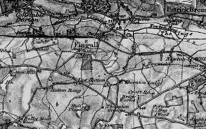 Old map of Akebar Cotts in 1897