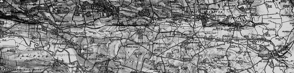 Old map of Leeming Beck in 1897