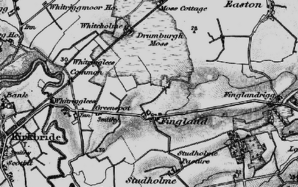 Old map of Whitrigglees in 1897