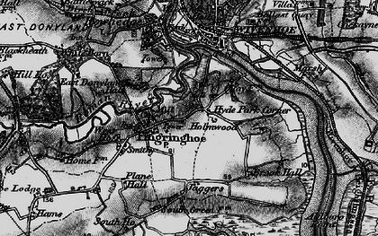 Old map of Fingringhoe in 1896
