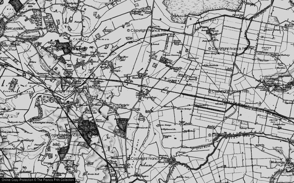 Old Map of Finningley, 1895 in 1895