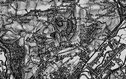 Old map of Fir Vale in 1896