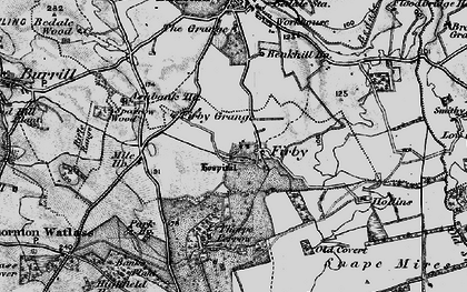 Old map of Banks Plantn in 1897
