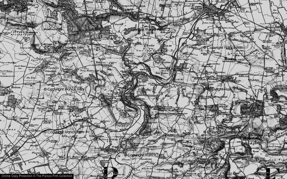 Old Map of Historic Map covering Badger Bank in 1898