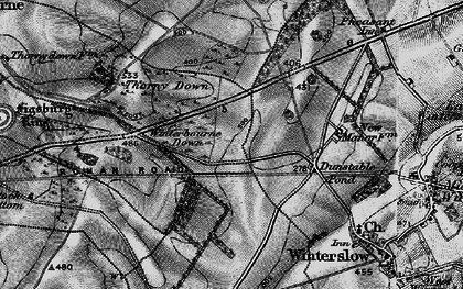 Old map of Firsdown in 1895