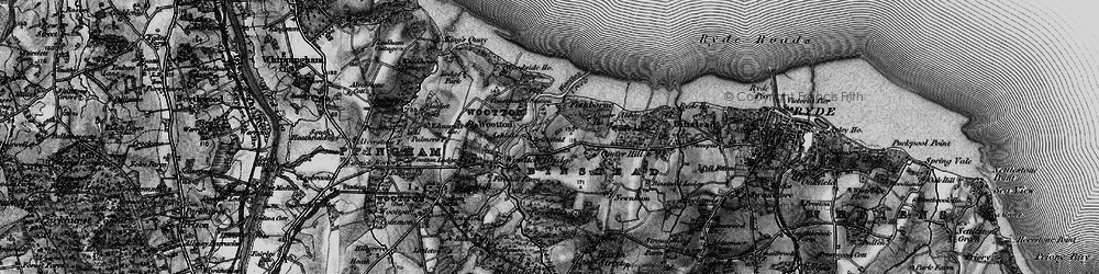 Old map of Wootton Creek in 1895