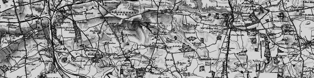 Old map of Weterton Ho in 1898