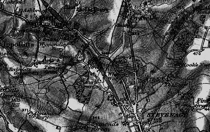 Old map of Fishers Green in 1896