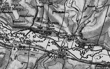 Old map of Wylye Valley in 1898