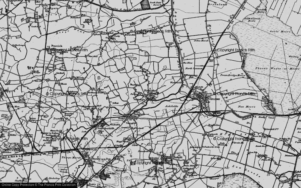 Old Map of Historic Map covering Ashfields in 1895