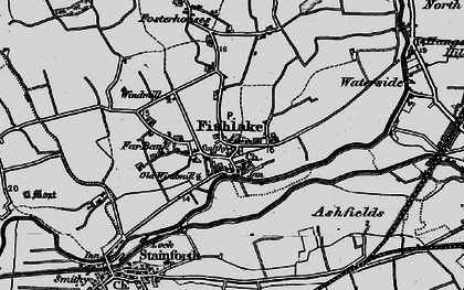Old map of Ashfields in 1895