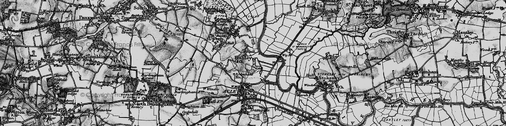 Old map of Acle Br in 1898