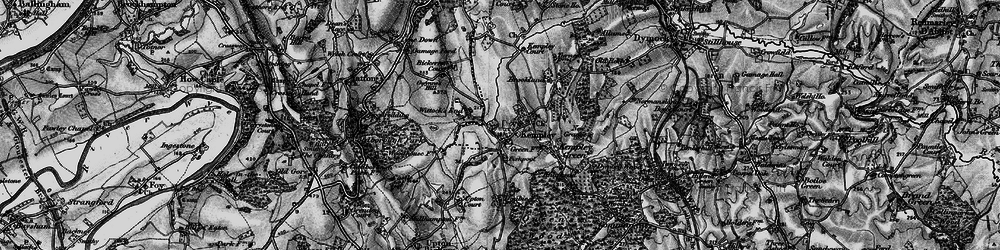 Old map of Whittocks End in 1896