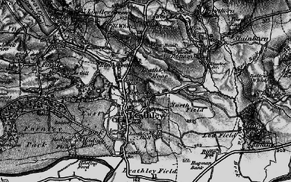 Old map of Leathley Grange in 1898