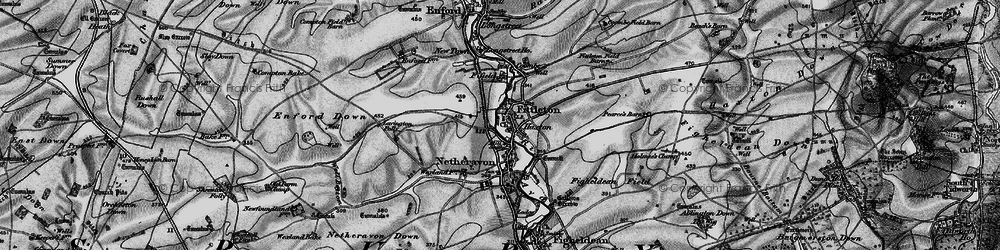 Old map of Airfield Camp Netheravon in 1898