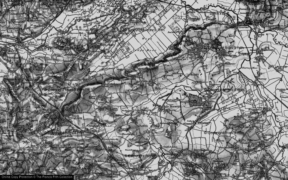Old Map of Fivehead, 1898 in 1898