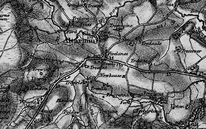 Old map of Fivelanes in 1895