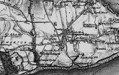 Old map of Flamborough in 1897