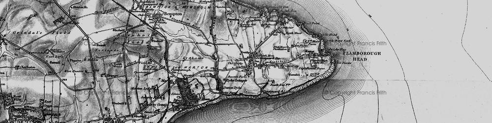 Old map of Flamborough in 1897