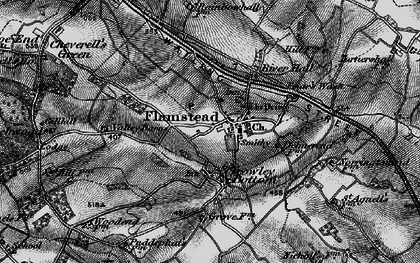 Old map of Flamstead in 1896