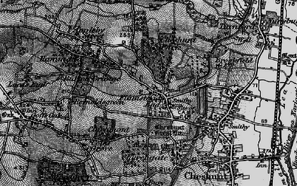 Old map of Flamstead End in 1896