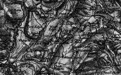 Old map of Wicken Walls in 1896
