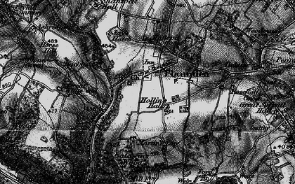 Old map of Baldwin's Wood in 1896