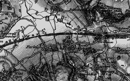 Old map of Backwell Ho in 1898