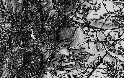 Old map of Flaxley in 1896