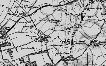 Old map of Wilks Plantn in 1898