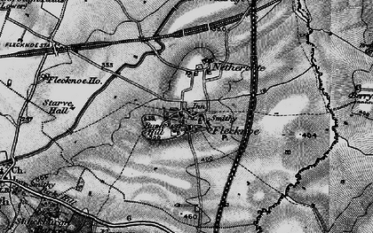 Old map of Berry Fields in 1898