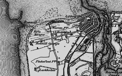 Old map of Fleetwood in 1896