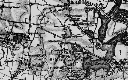 Old map of Lily Broad in 1898