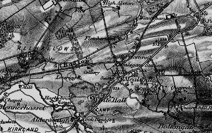 Old map of Whitehall in 1897