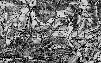 Old map of Lane End Common in 1895