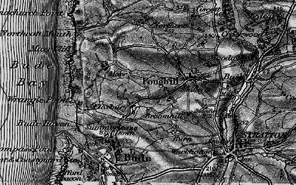 Old map of Flexbury in 1896