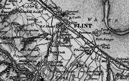 Old map of Flint in 1896