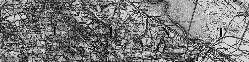 Old map of Flint Mountain in 1896