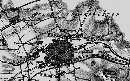 Old map of Flitcham in 1898