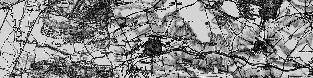 Old map of Westwood Belt in 1898
