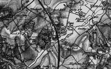 Old map of Flitwick in 1896