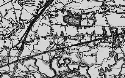 Old map of Flixton in 1896