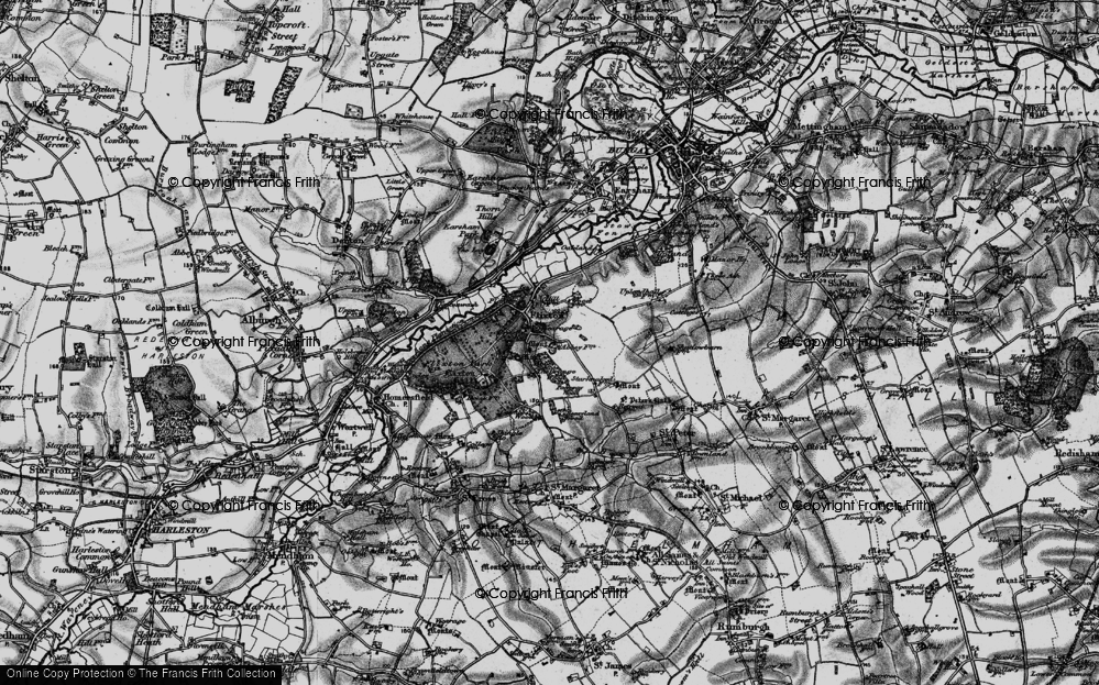 Old Map of Historic Map covering Abbey Wood in 1898
