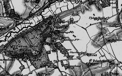 Old map of Lay, The in 1898
