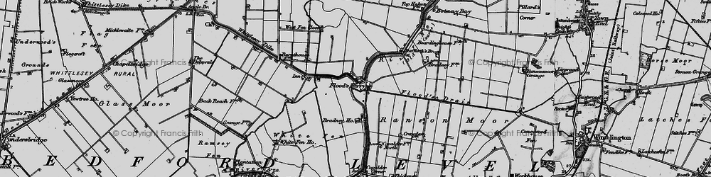 Old map of White Fen in 1898
